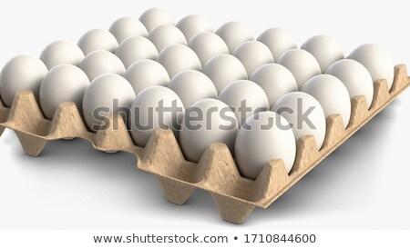 tray of white eggs stock photo © GeniusKp