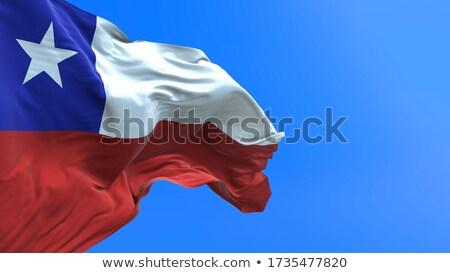 Törökország Chile zászlók puzzle izolált fehér Stock fotó © Istanbul2009