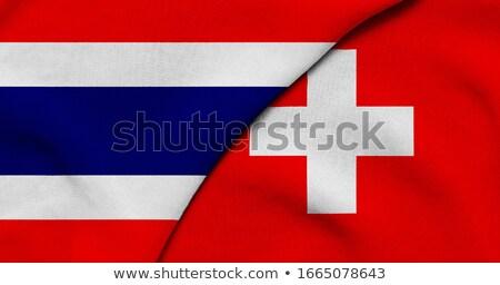 Zwitserland Thailand vlaggen puzzel geïsoleerd witte Stockfoto © Istanbul2009