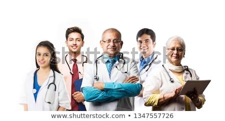 портрет · мужской · доктор · Постоянный · коридор · больницу · человека - Сток-фото © szefei