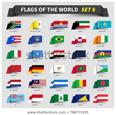 Németország Fidzsi-szigetek zászlók puzzle izolált fehér Stock fotó © Istanbul2009