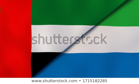 United Arab Emirates and Sierra Leone Flags Stock photo © Istanbul2009