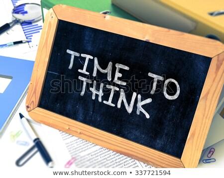 時間 · 知識 · 黒板 · スタック · 図書 - ストックフォト © tashatuvango