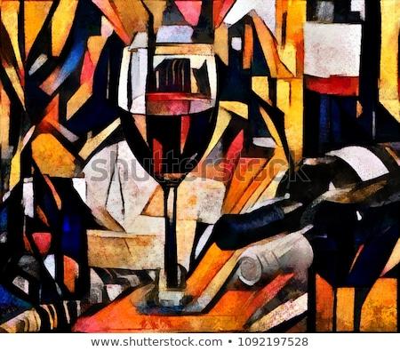 Art peinture bouteilles main beauté travail Photo stock © artfotoss