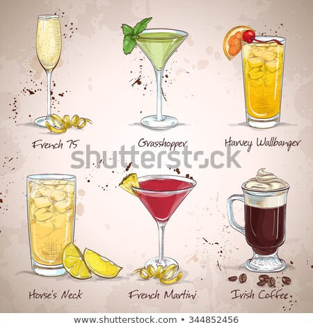 напитки · космополитический · иллюстрация · пить · извести · клюква - Сток-фото © netkov1