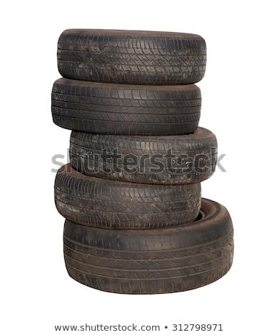 Column stack of old used car tires Stock photo © stevanovicigor