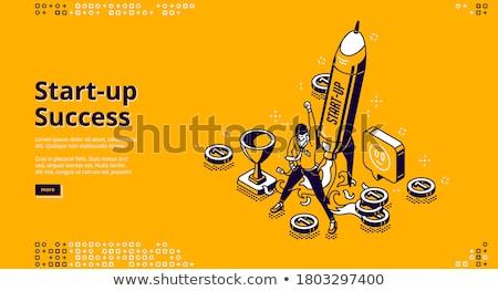 Businessman in winner posture Stock photo © cherezoff