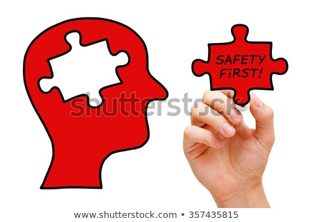 safety first puzzle head concept stock photo © ivelin