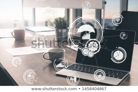risk assessment concept on modern laptop screen stock photo © tashatuvango
