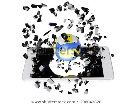 volleybal · uit · smartphone · technologie · sport - stockfoto © teerawit