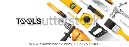Sleutel staal tools reparatie ingesteld roestvrij staal Stockfoto © Supertrooper