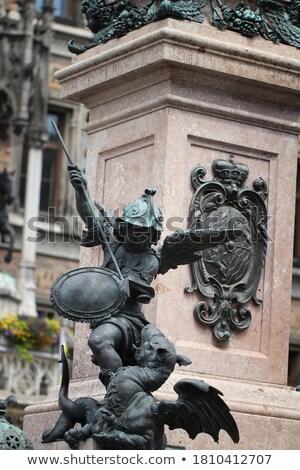 Putto Statue on the Marienplatz in Munich, German Stock photo © vladacanon