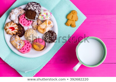 Selection of quality crunchy cookies with milk Stock photo © ozgur