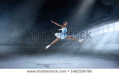 Kobiet rysunku łyżwiarz zawodowych wektora Zdjęcia stock © RAStudio