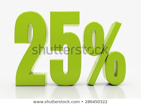 Vinte cinco por cento desconto 3D imagem Foto stock © idesign
