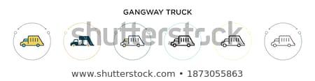 Gangway of plane line icon. Stock photo © RAStudio