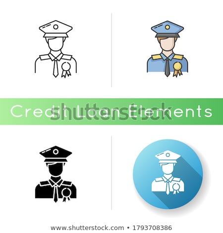 Segurança agência ícone negócio cinza botão Foto stock © WaD