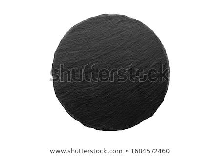 Fekete kövek izolált fehér szépség kő Stock fotó © jonnysek