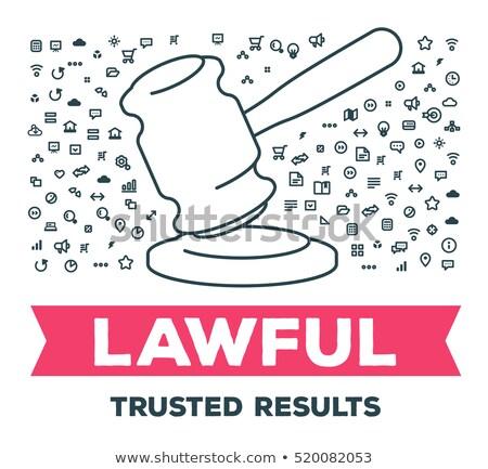 droit · justice · ligne · design · élevé - photo stock © anna_leni