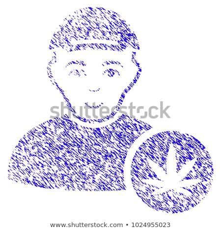 cannabis grungy texture design stamps stock photo © zuzuan