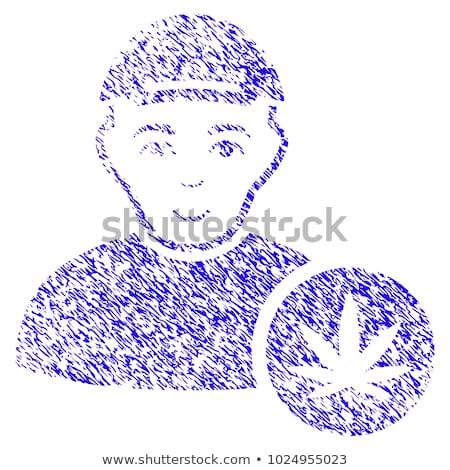 Hennep textuur ontwerp postzegels stempel Stockfoto © Zuzuan