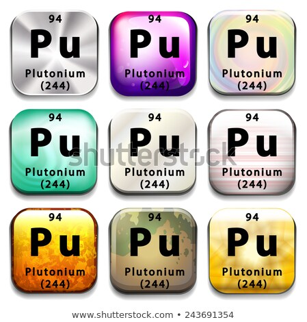 An icon showing the chemical Plutonium Stock photo © bluering