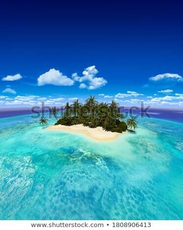 zeegezicht · klein · eiland · dubrovnik · heuvels · water - stockfoto © srnr