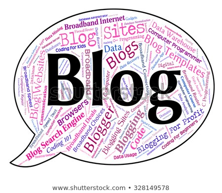 Blogging mot mots texte internet Photo stock © stuartmiles