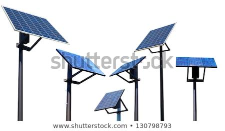 Solar cell panel isolated on white background. Stock photo © Leonardi