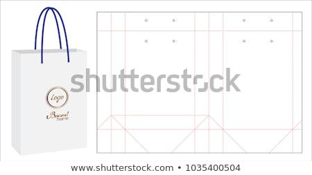 Blanco papier zak sjabloon boodschappentas foto realistisch Stockfoto © pakete