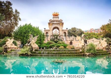 ストックフォト: モニュメンタル · 噴水 · ラ · バルセロナ · スペイン · 旅行