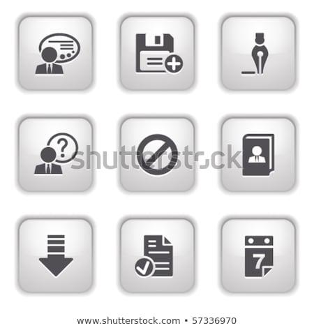 management icon grey button design stock photo © wad