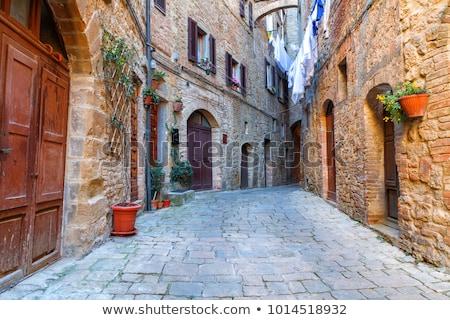 medieval · calle · ciudad · Toscana · Italia · casa - foto stock © digifoodstock