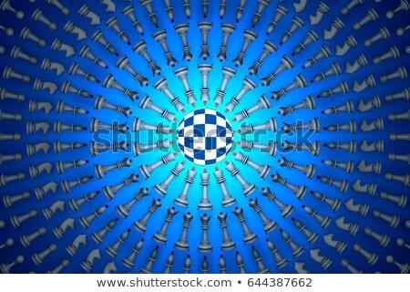 Szachy matrycy metafora ozdoba 3d przestrzeni Zdjęcia stock © grechka333