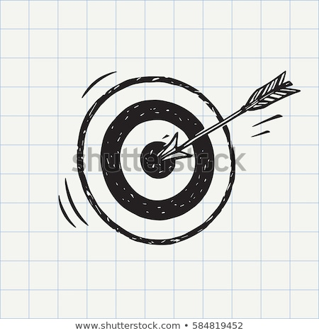Stock fotó: Lövöldözés · cél · rajz · ikon · vektor · izolált