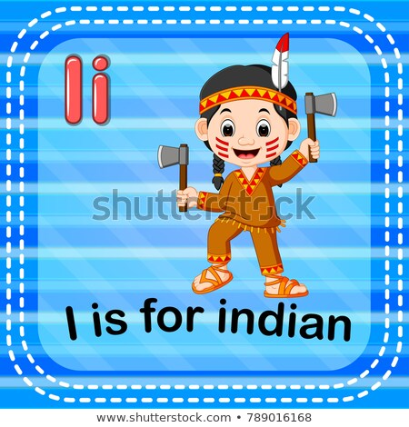 Letra i indiano ilustração fundo arte leitura Foto stock © bluering