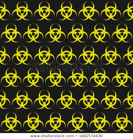 radiation and biological hazard danger signs on yellow seamless pattern stock photo © evgeny89