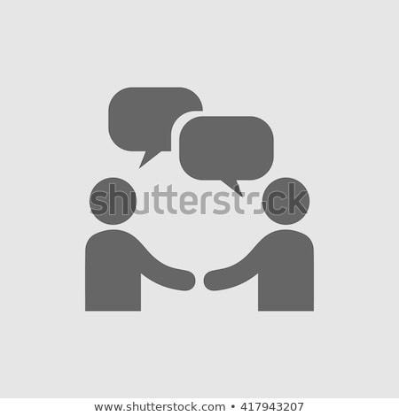 A template with people and empty callouts Stock photo © bluering