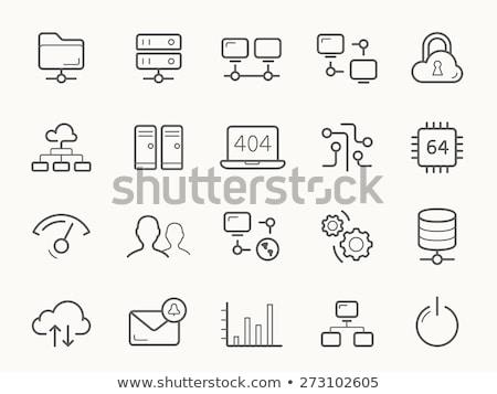cloud · hosting · línea · icono · vector · aislado · blanco - foto stock © rastudio