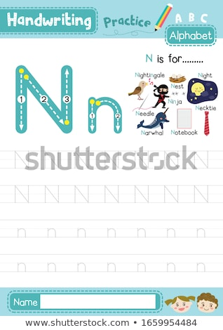 Flashcard letter N is for notebook Stock photo © bluering