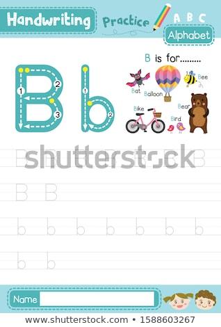 птица · алфавит · текста · иллюстрация · птиц · животные - Сток-фото © bluering