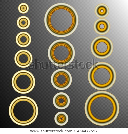 set of 16 Golden rings. EPS 10 Stock photo © beholdereye