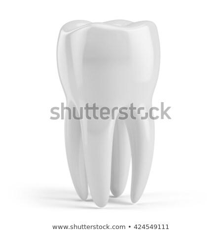 3D kép fehér fogak izolált fekete mosoly Stock fotó © maya2008