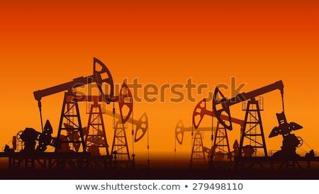 oil pumps in desert stock photo © ssuaphoto