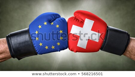 A boxing match between the European Union and Switzerland Stock photo © Zerbor