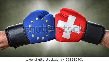 Boksen wedstrijd europese unie Zwitserland business Stockfoto © Zerbor