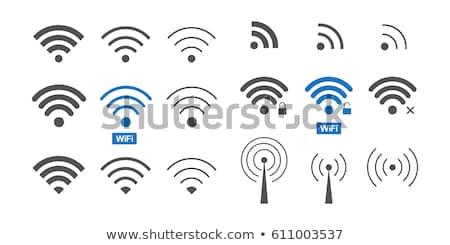 беспроводных икона дизайна 10 бизнеса телефон Сток-фото © sdCrea