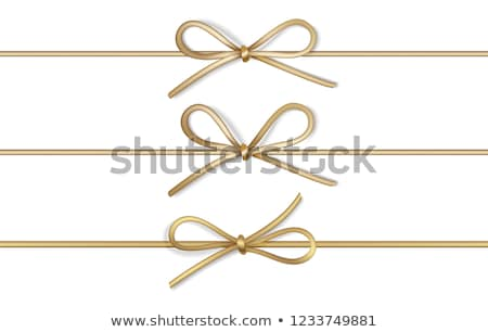 Regalo colección marrón arco luz amor Foto stock © -Baks-