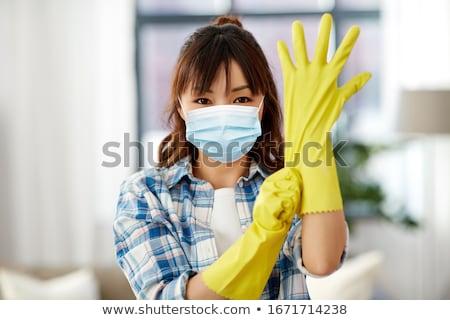 housework in yelow glove Stock photo © ssuaphoto