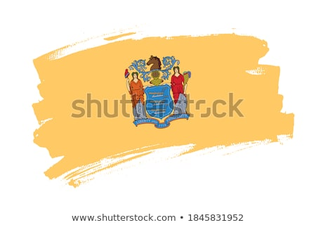 banderą · New · Jersey · komputera · wygenerowany · ilustracja · jedwabisty - zdjęcia stock © tussik